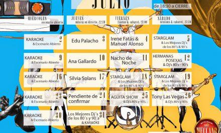 Cenas y espectáculo en el Café Meccano (julio)