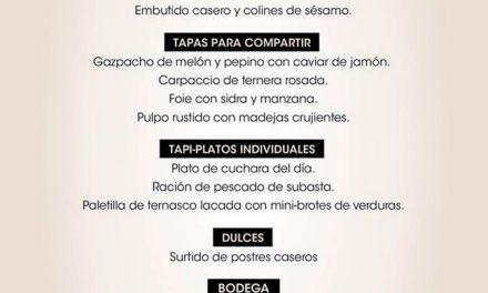 Nuevo menú Bocados de La Bastilla