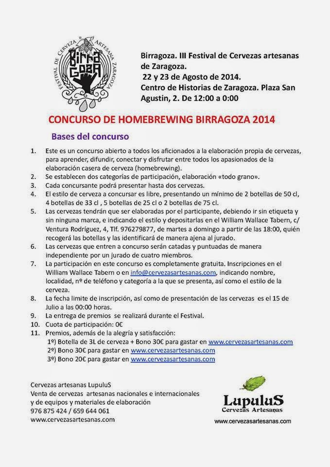 Concurso de homebrewning Birragoza (hasta el 15 de julio)