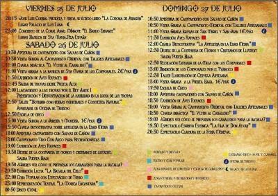 XV Feria Medieval Daroca, (sábado 26 y domingo 27)