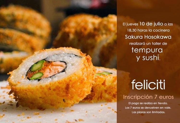 Taller de sushi y témpura (jueves, 10)