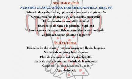 Menú de verano en María Morena (hasta septiembre)