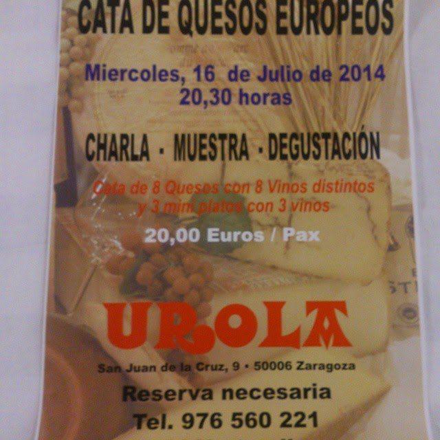 Cata de quesos europeos en Urola (miércoles, 16)