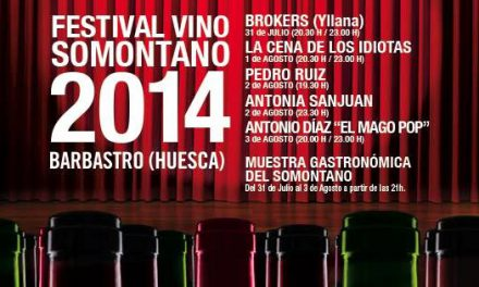Festival Vino Somontano (del jueves 31 al domingo 3 de agosto)