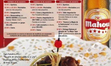 Feria de la tapa (del 29 al 31 de agosto)