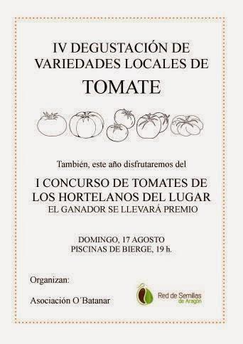 Degustación y concurso de tomates (domingo, 17)