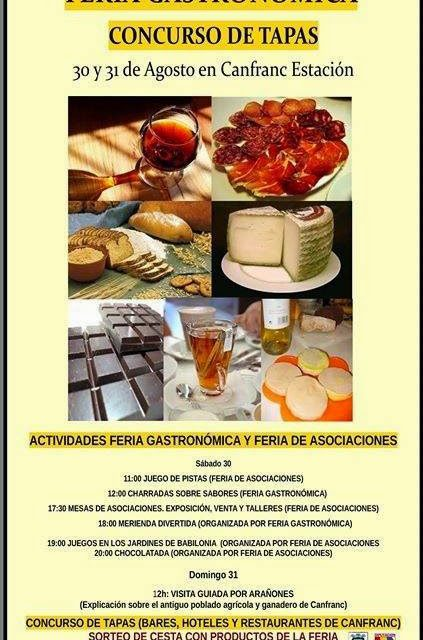 Feria gastronómica y concurso de tapas (30 y 31 de agosto)