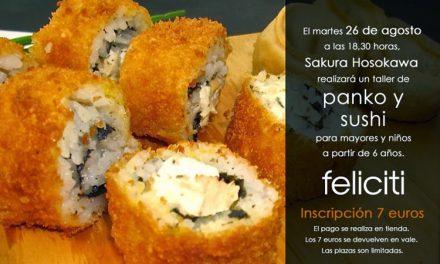 Taller de panko y sushi (martes, 26)