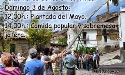 Plantada del mayo y comida (sábado y domingo, 2 y 3 de agosto)