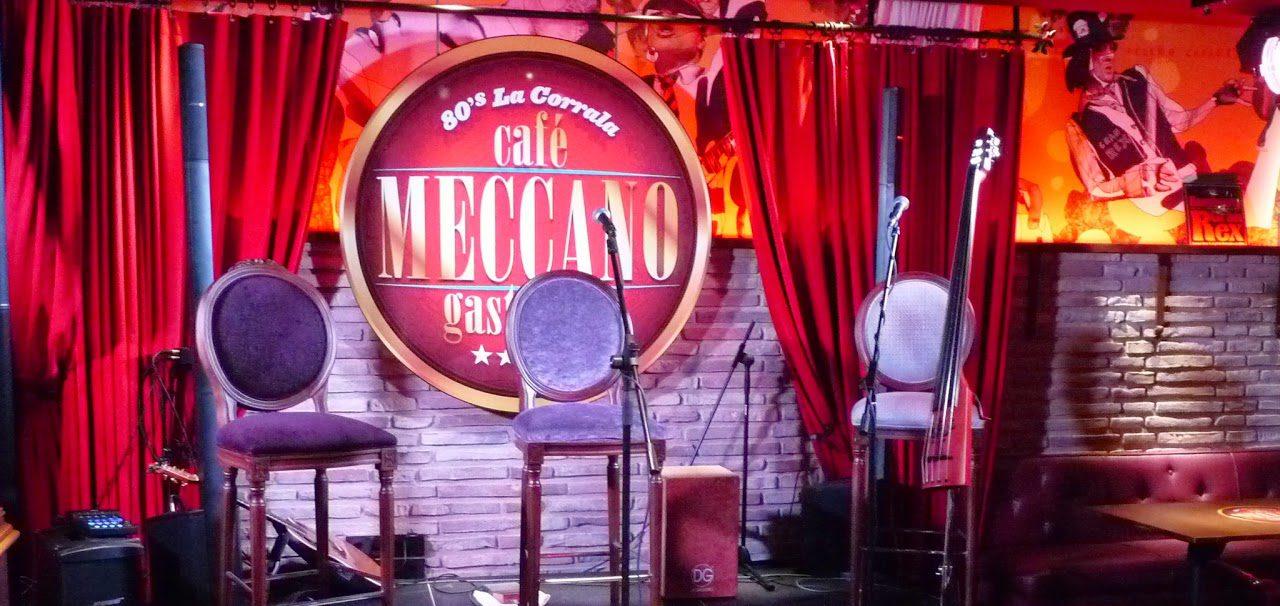 Cenas y espectáculo en el Café Meccano (septiembre)