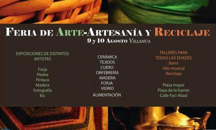 Feria de arte, artesanía y reciclaje (días 9 y 10 de agosto)