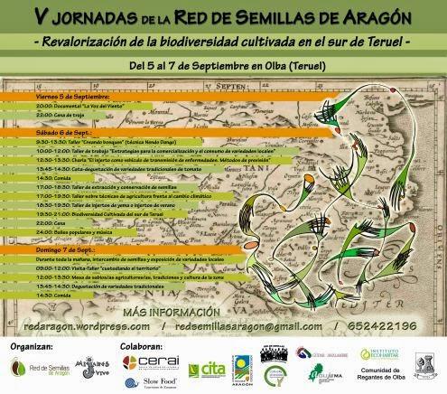 Jornadas de la Red de semillas de Aragón (del viernes 5 al domingo 7 de septiembre)