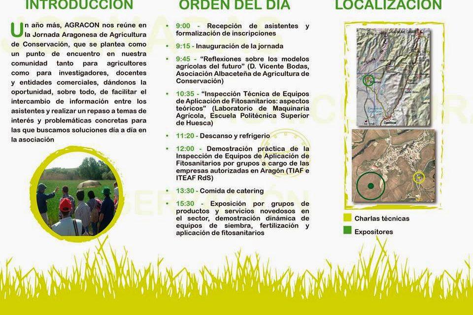 XIII Jornada Aragonesa de Agricultura de Conservación (jueves, 18)