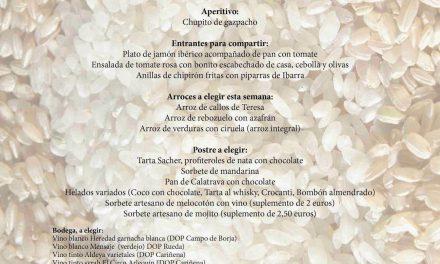 Menú arroces (Brazal) de verano en El candelas (hasta el sábado, 6)