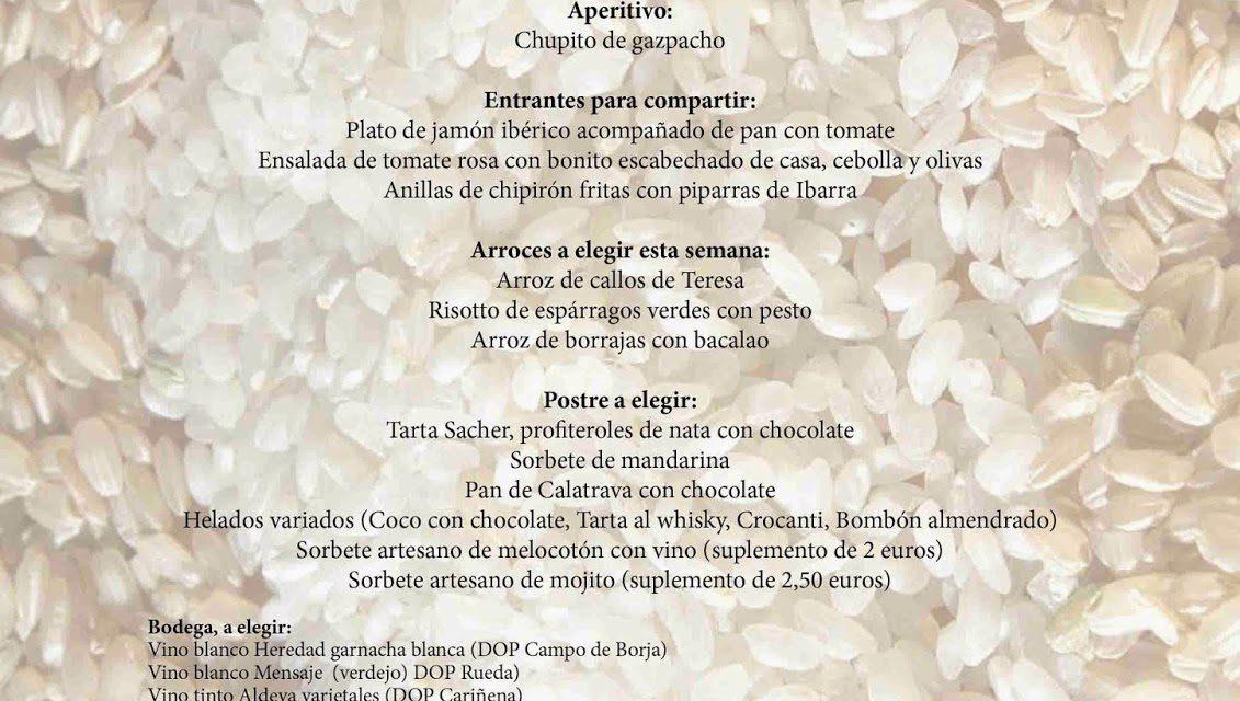 Menú arroces (Brazal) de verano en El candelas (hasta el sábado, 27)