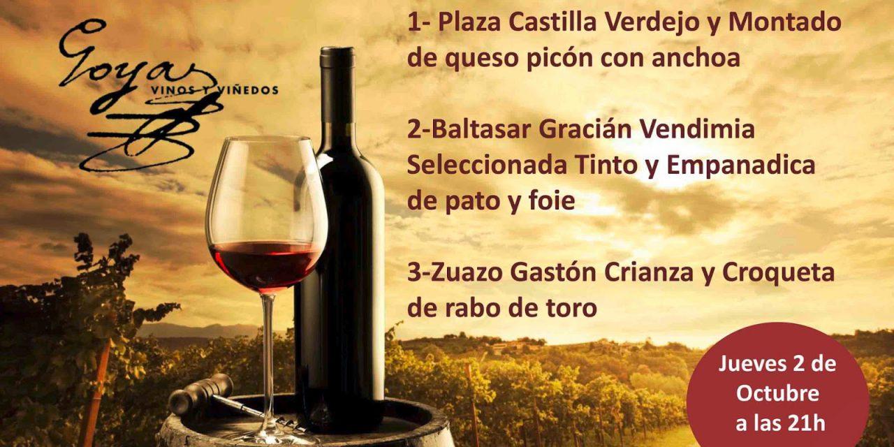 Cata de vino y tapas (jueves, 2)