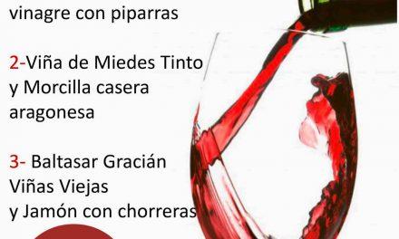 Cata de vino y tapas (jueves, 25)