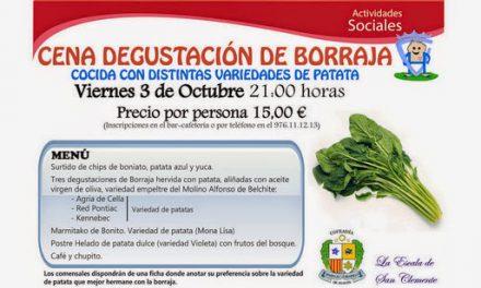 Cena degustación de Borrajas con diferentes patatas (viernes, 3)
