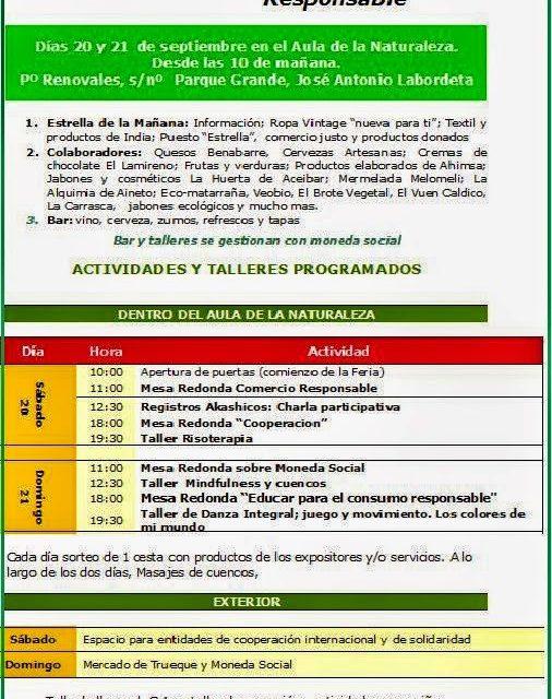 III Feria de consumo Responsable (días 20 y 21)
