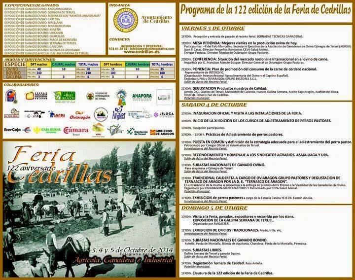 Feria de ganados y maquinaria agrícola (del 3 al 5)