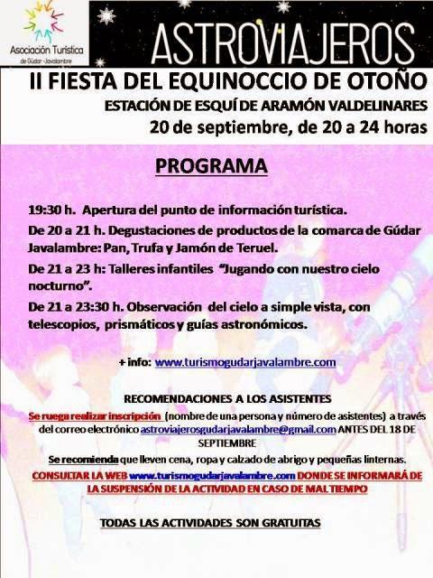 II Fiesta del Equinoccio en las pistas de esquí de Valdelinares (sábado 20)