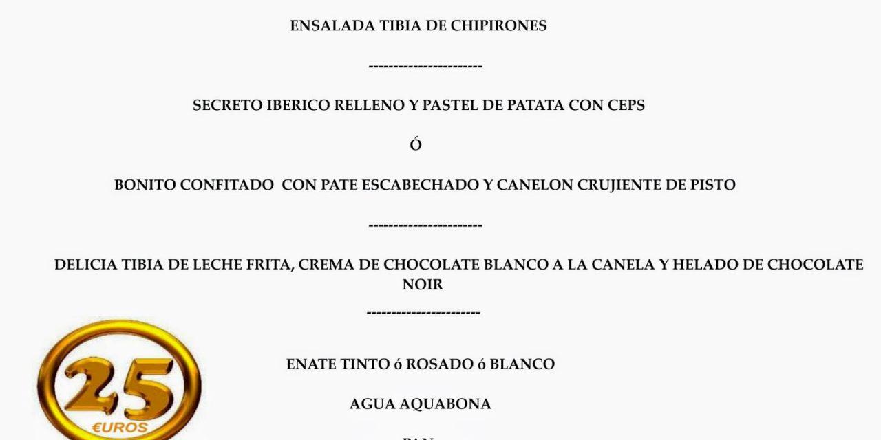 Menú de Pilares (del 4 al 13 de octubre)