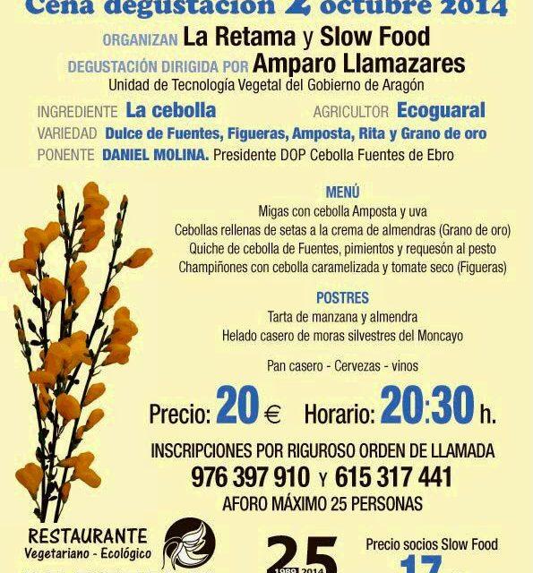 Cena degustación La Cebolla, por Slow Food en La Retama (jueves, 2)