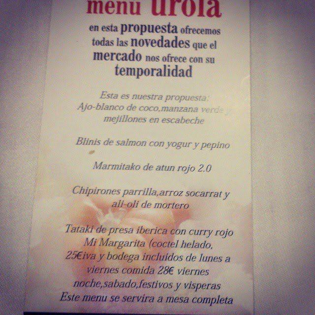 Menú Estrella Urola por 25 euros (septiembre)