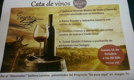 Cata de vino y tapas (jueves, 16)