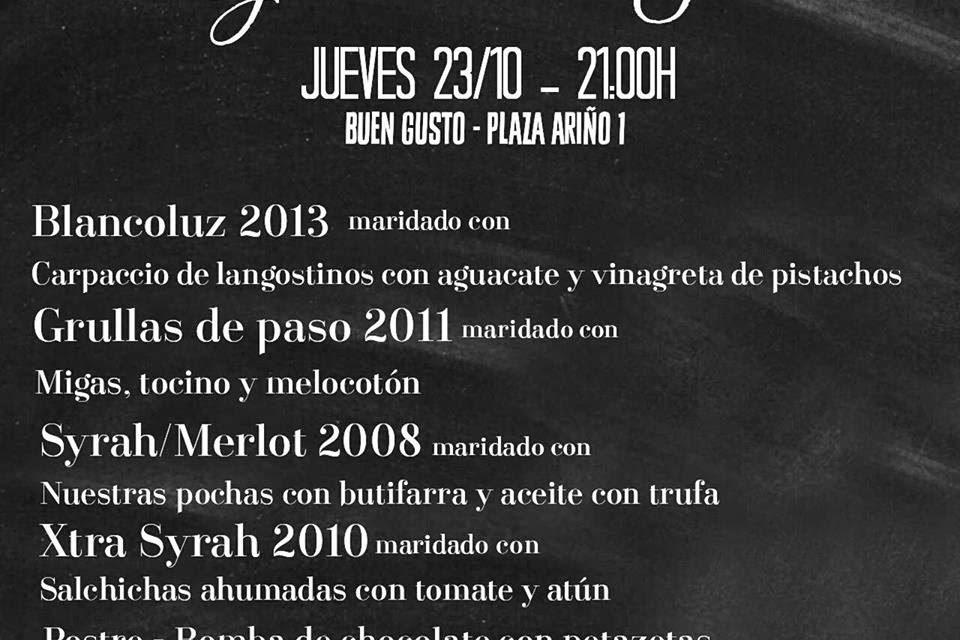 Cena maridada con Edra en Buen Gusto (jueves, 23)