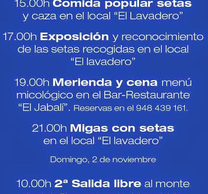 Jornadas micológicas de las Cinco Villas (días 1 y 2 de noviembre)