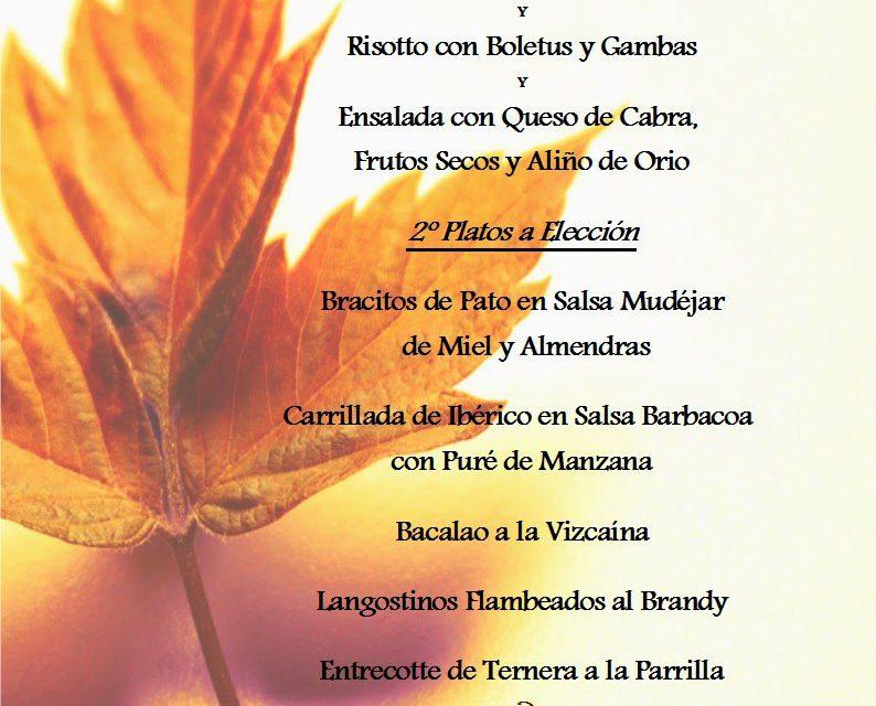 Menú Hechizos de otoño (octubre)