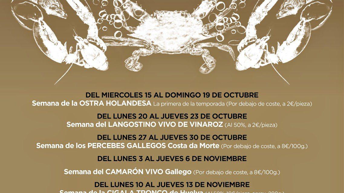 Gourmet Days en Tragantúa y Cabezudos con langostino de Vinaroz (del 20 al 23)