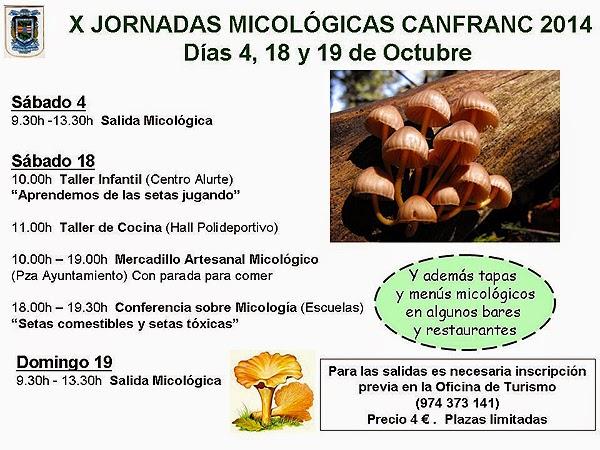 Jornadas micológicas (18 y 19 de octubre)