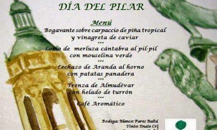 Menú del Pilar en Gayarre (domingo, 12)