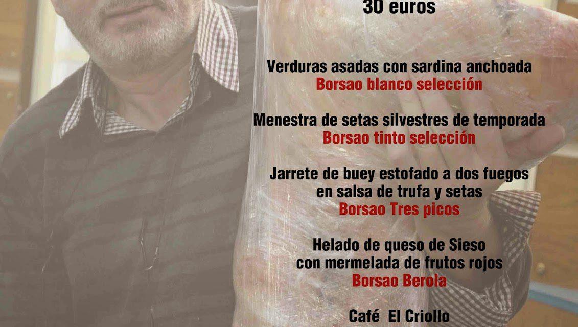 Cena maridada con Antonio Arazo y Borsao en El Candelas (viernes, 14)