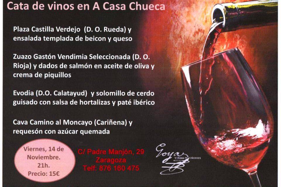 Cata de vino y tapas (viernes, 14)