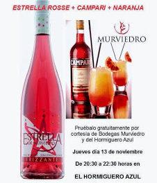 Degustación de cóctel con Murviedro (jueves, 13)