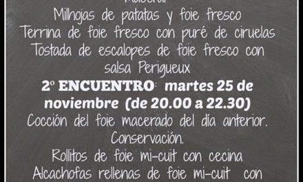 Encuentros gastronómicos sobre el foie (lunes y martes, 24 y 25)
