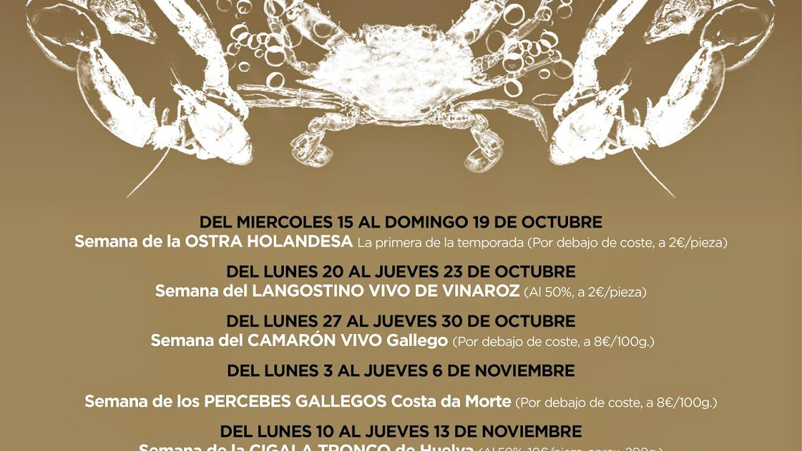 Gourmet Days en Tragantúa y Cabezudos con carabineros gigantes (del 1 al 4 de diciembre)