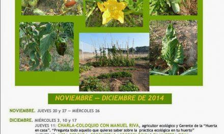 Curso de iniciación al cultivo ecológico (del 20 de noviembre al 18 de diciembre)