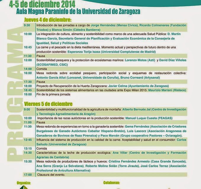 Jornadas de ganadería y pesca sostenible (días 4 y 5 de diciembre)