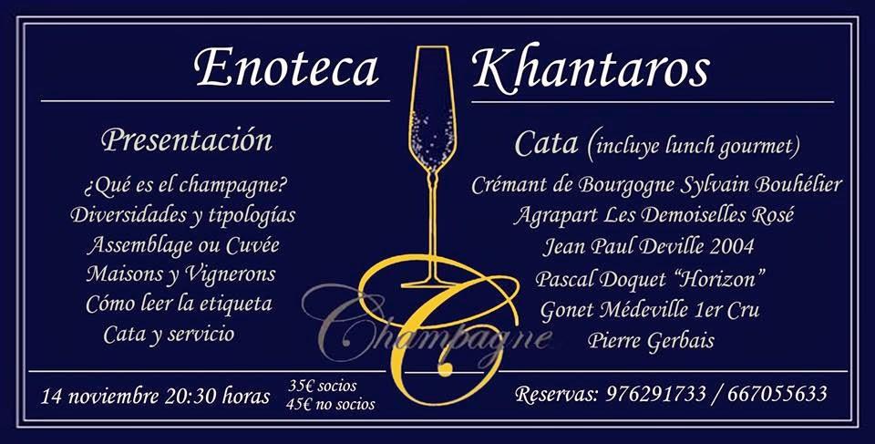 Introducción y gran cata de champagne (sábado, 15)