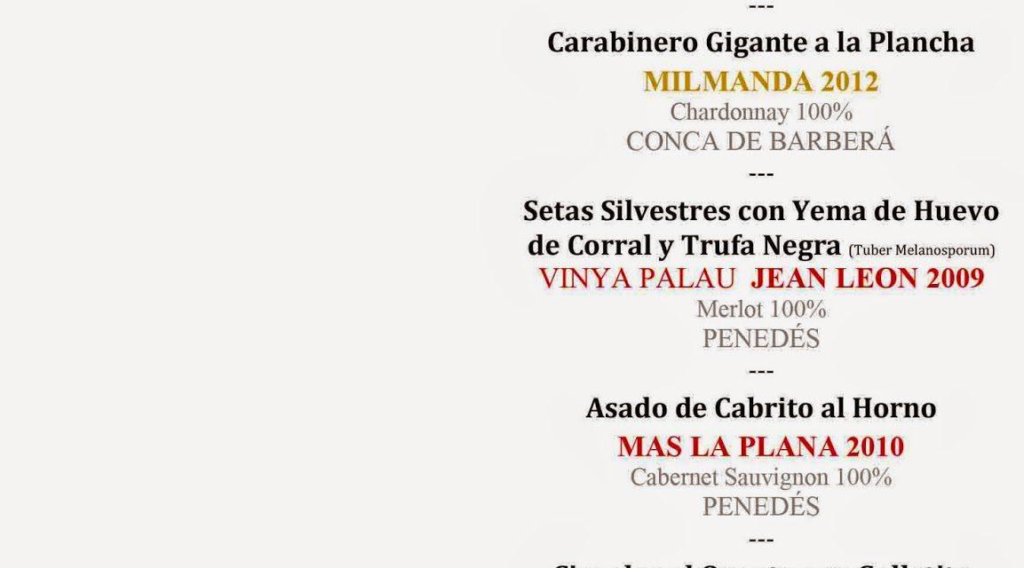 Cena cata maridaje con Miguel Ángel Torres en Los Cabezudos (miércoles, 3)