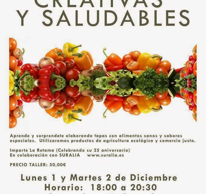 Taller de cocina: Tapas creativas y saludables (lunes y martes, 1 y 2 de diciembre)