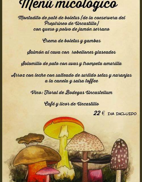 Menú micológico en Uncastello (sábado, 22)