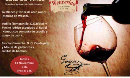 Cata de vino y tapas (jueves, 13)
