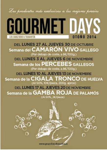 Gourmet Days en Tragantúa y Cabezudos con gamba roja (del 17 al 20)