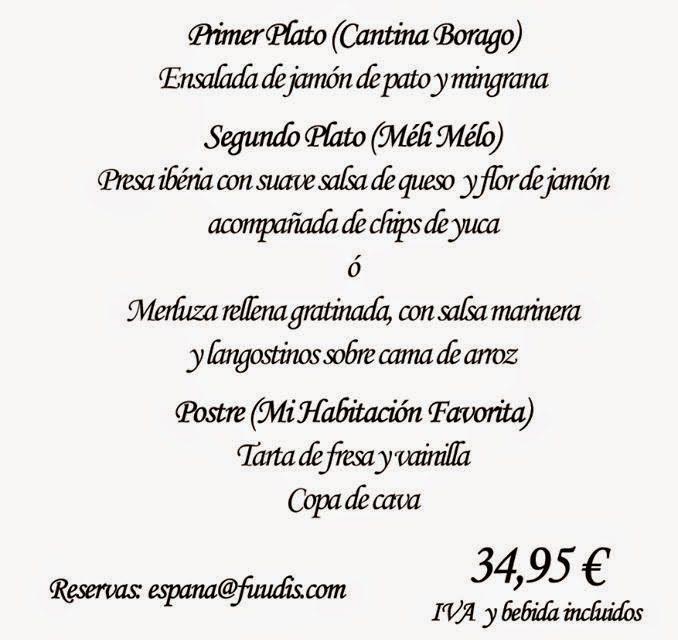Cena Fuudis (miércoles, 17)