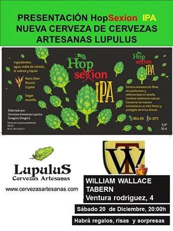 Presentación de la cerveza HopSexion IPA de Lupulus (sábado, 20)